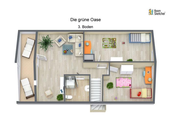 Dachgeschoss in 3D