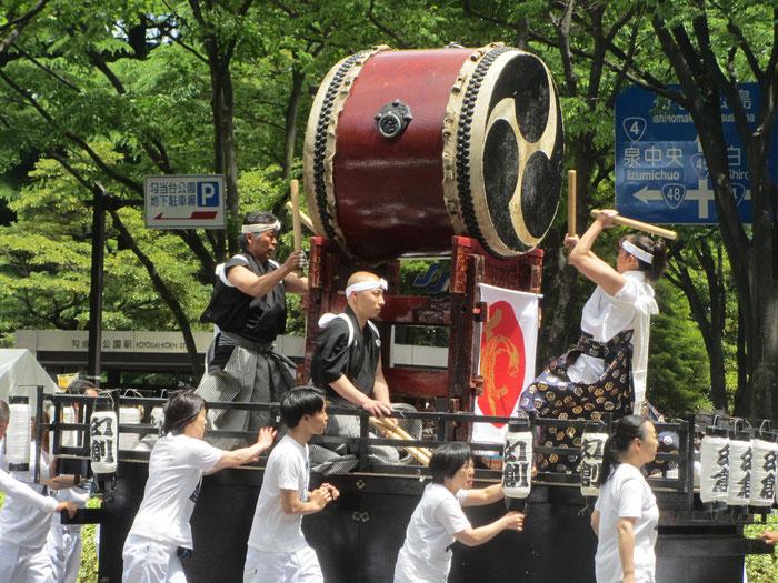 Trommler beim Aoba-Matsuri