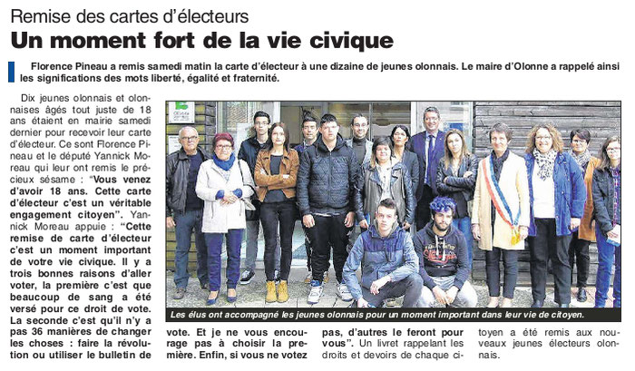 Journal des Sables du 28 avril 2016.