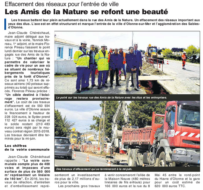 Journal des Sables du 21 avril 2016.