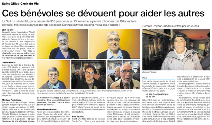 Article Ouest-France du 15 novembre 2016