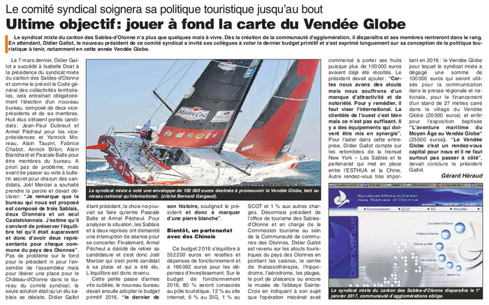 Le Journal des Sables du 14 avril 2016