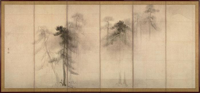 Byôbu de Hasegawa Tohaku. Periodo Momoyama, finales del siglo XVI, 1595.