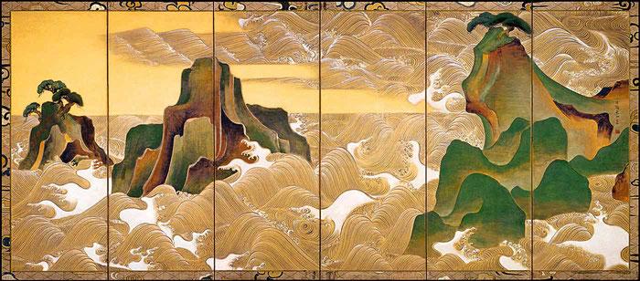 Byôbu de Ogata Korin (1658-1716). Periodo Edo. Siglos XVII-XVIII.