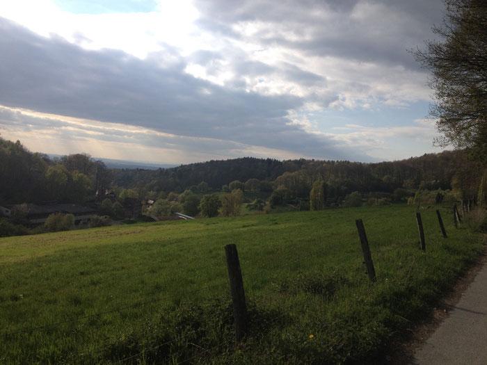 Blick auf die ehemalige Odenwaldschule im Hambacher Tal.