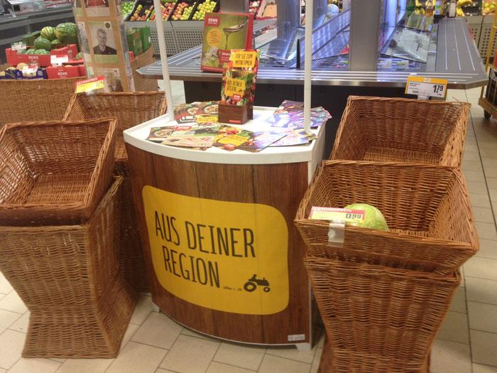 Das regionale Angebot im Supermarkt - eher überschaubar.