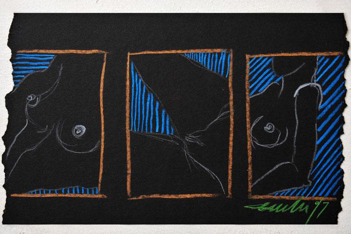 Aktstudie | 1997 | 30x20cm - 233,00 Euro | Farben können vom Original etwas abweichen.