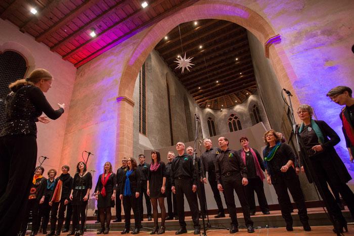 Bild Laetita-Chor bei dem Konzert 4Gospel.sbk im Franziskaner Konzerthaus in Villingen