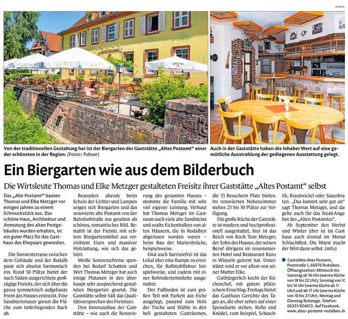 Quelle: Pirmasenser Zeitung 24.05.2019