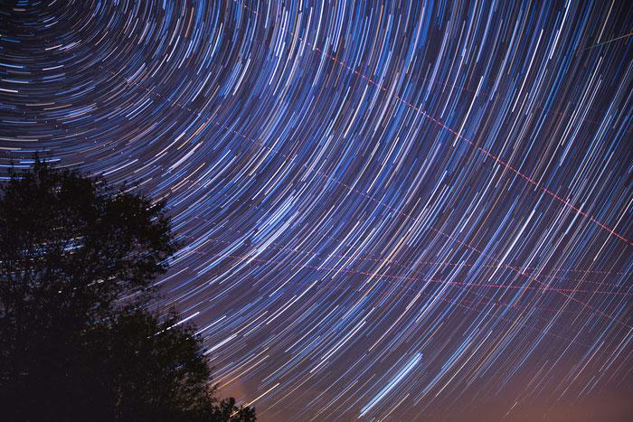 Langzeitbelichtung der Sternbildes Perseus