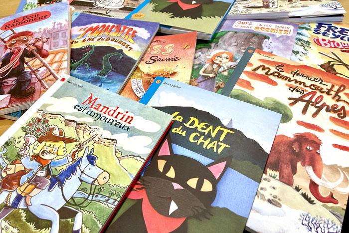 Une collection de livres jeunesse qui met en scène la Savoie et les légendes des Alpes