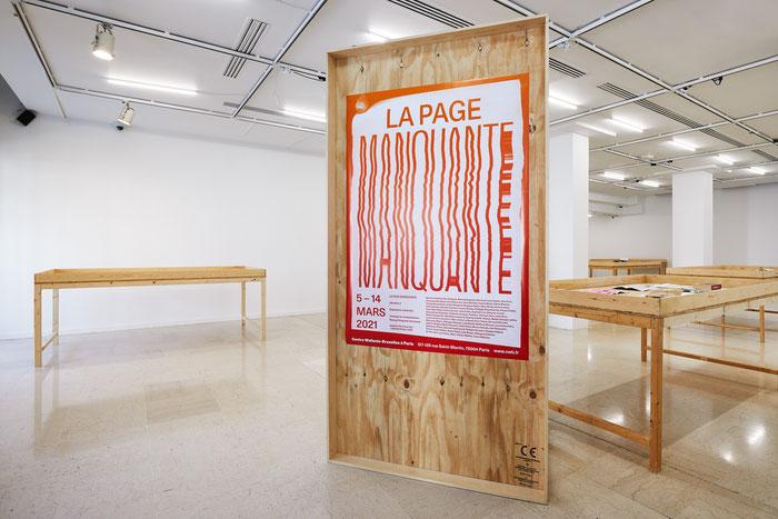 """""""La page manquante"""", exposition collective, CWB, Paris © Jeanchristophe Lett"""