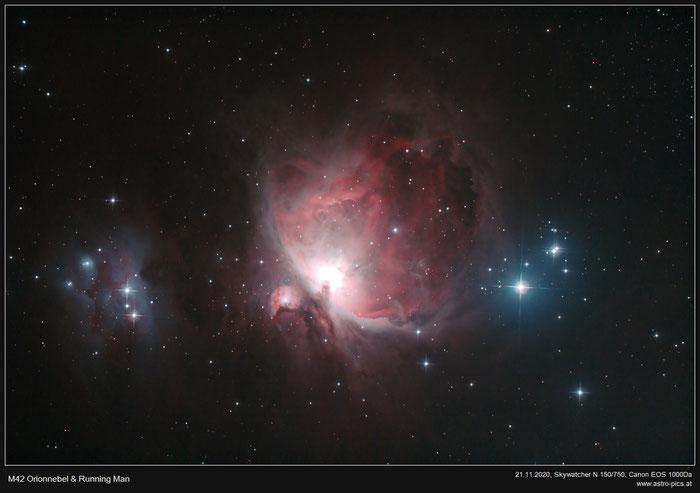M42 Orionnebel und Running Man