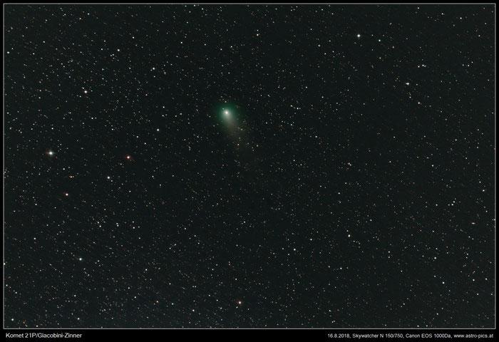 Komet 21P, Giacobini-Zinner im Sternfeld