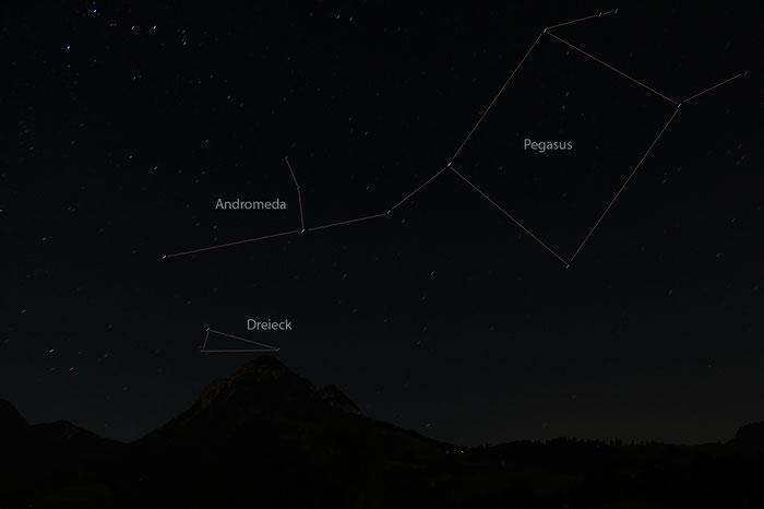 Sternbilder Pegasus, Andromeda, Dreieck