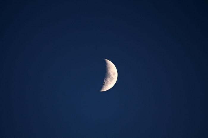 Mondsichel am 20.12.2020