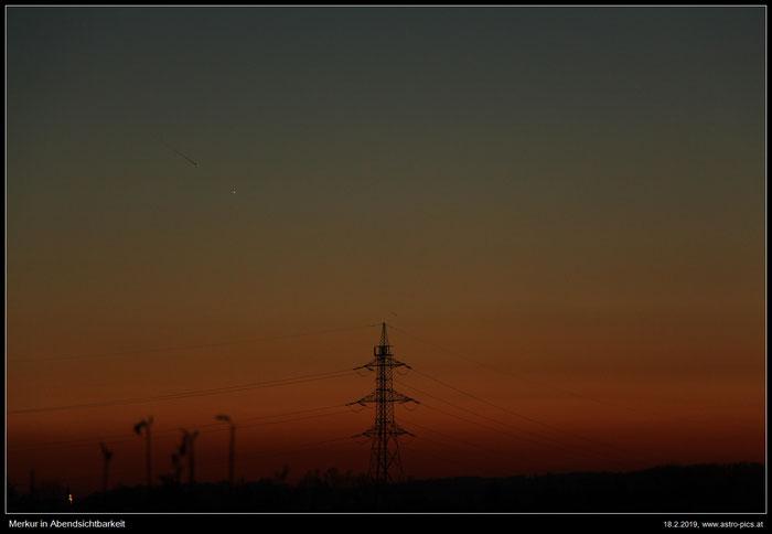 Merkur in Abendsichtbarkeit