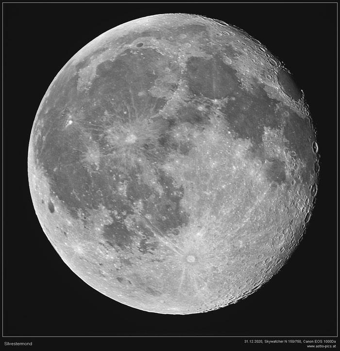 Der Mond am 31.12.2020