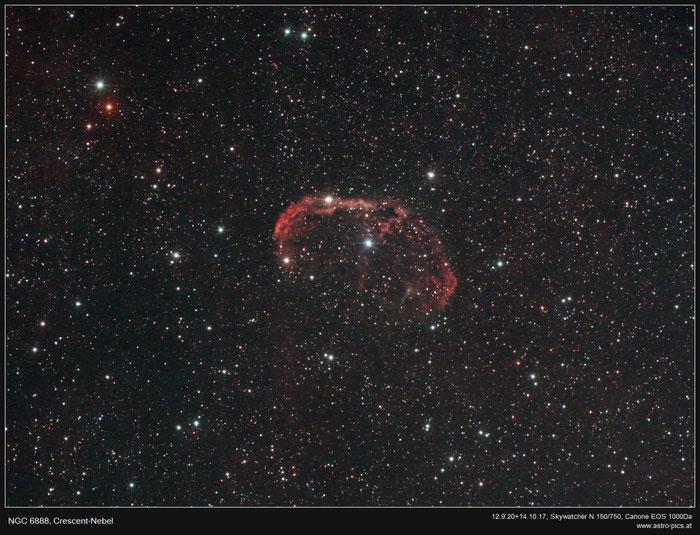 NGC 6888, Crescent Nebel
