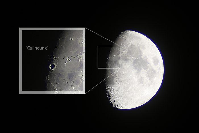 Mond, Quincunx