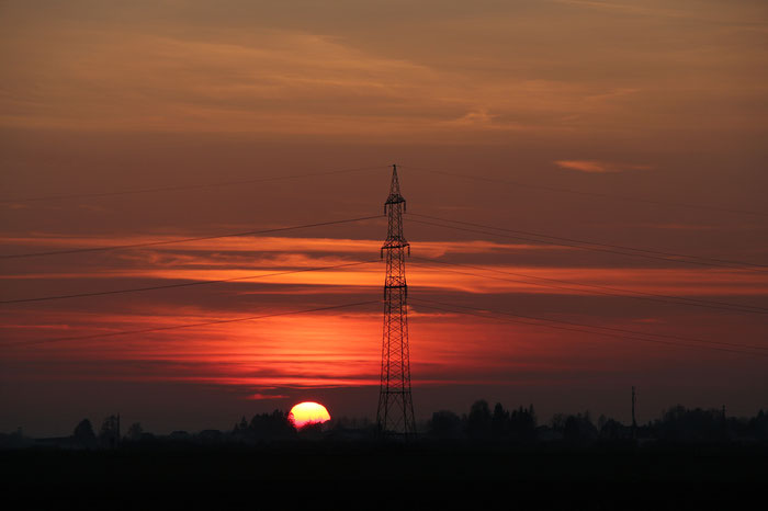 Sonnenuntergang, Leonding