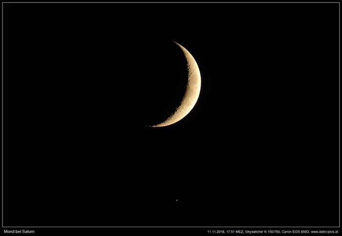Mond-Saturn-Begegnung vom 11.11.2018
