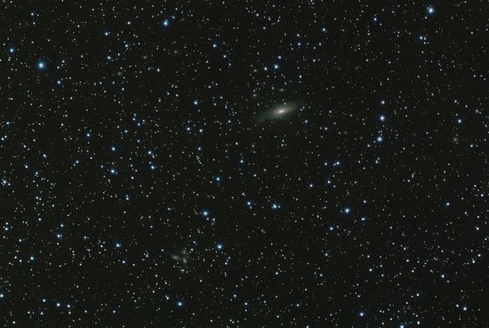 NGC 7331 Spiralgalaxie und Stephans Quintett, Sternbild Pegasus