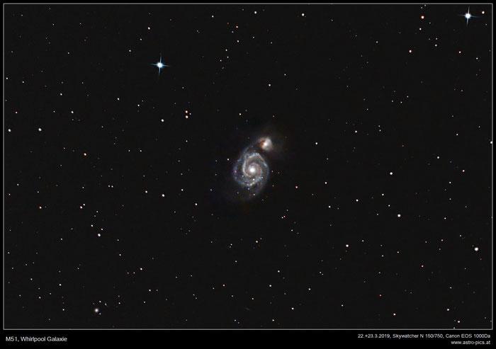 M51, Whirlpool Galaxie, Strudel Galaxie