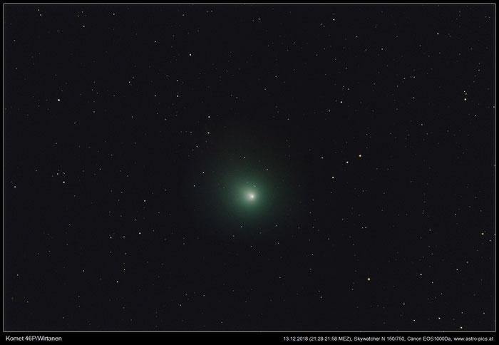 Komet 46P/Wirtanen am 13.12.2018