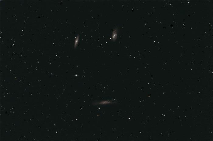 Leo Triplet, M65, M66, NGC 3628