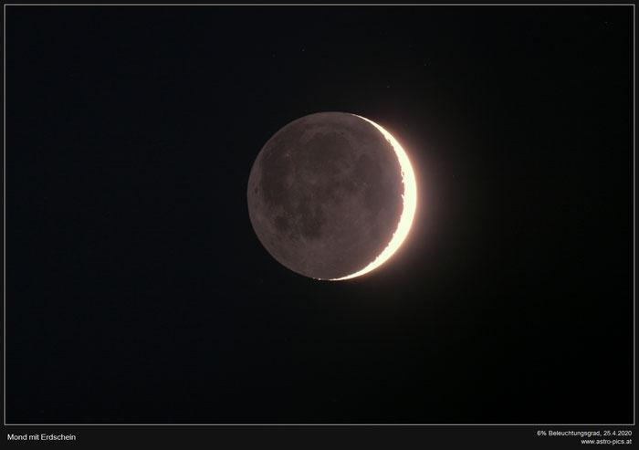 Mondsichel und Erdschein