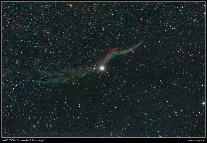 NGC 6960, Sturmvogel, Cirrus-Nebel im Schwan