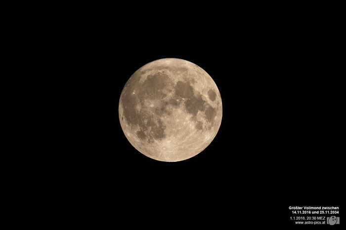 Super-Vollmond vom 1.1.2018