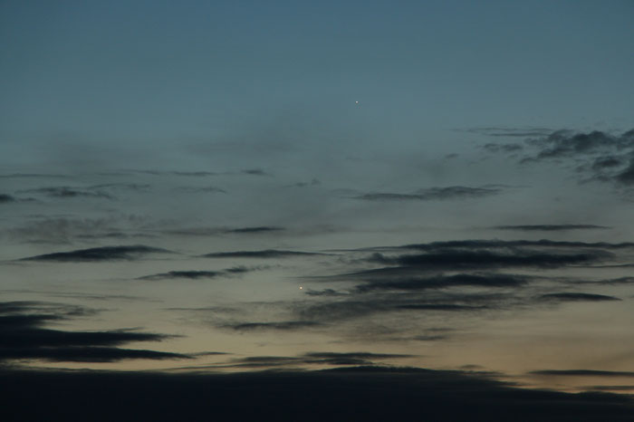 Venus 3 Grad bei Merkur