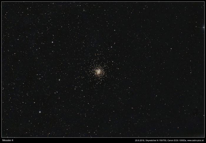 Messier 4, Kugelsternhaufen im Skorpion