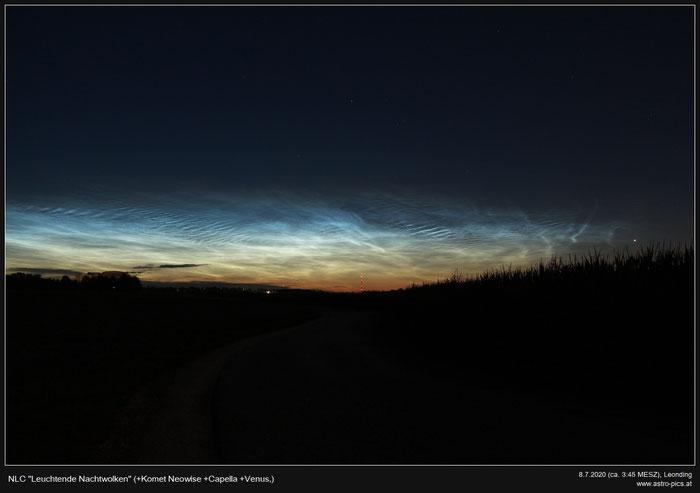 Nachtleuchtende Wolken, Noctilucent Clouds, NLC