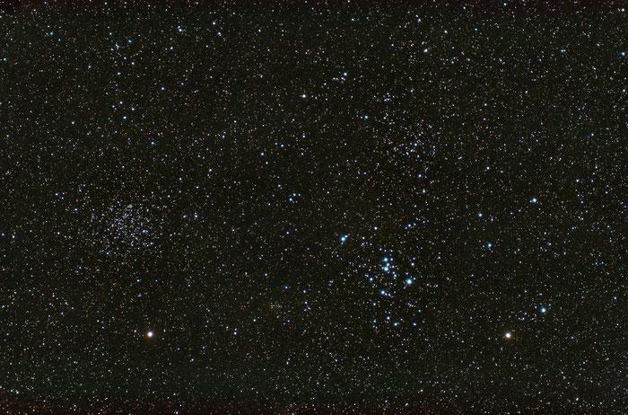 M46, M47, NGC 2438, NGC 2423, NGC 2425