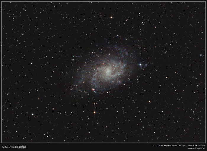 M33, Dreiecksgalaxie (Triangulum Galaxie)