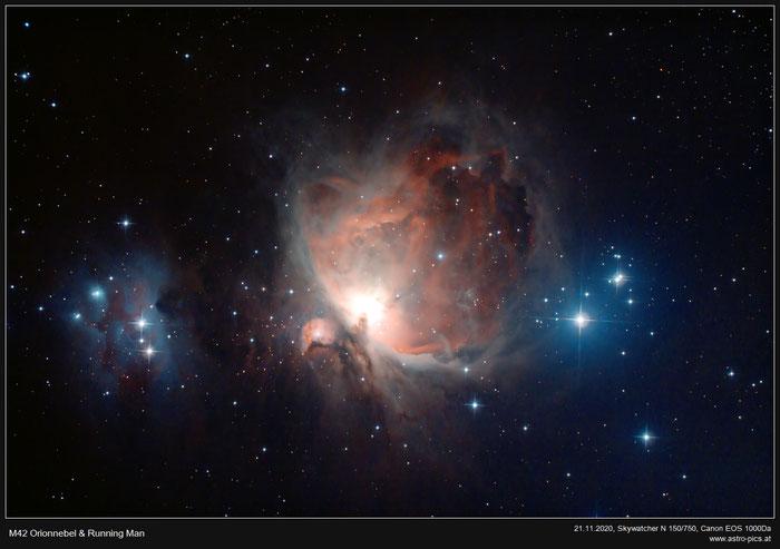 M42 Orionnebel und Running Man Nebel