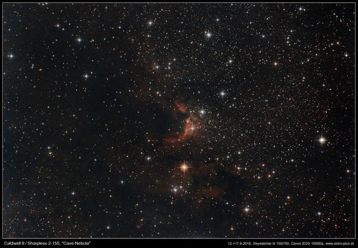 Cave Nebula, Sharpless 2-155, Sh2-155, Caldwell 9