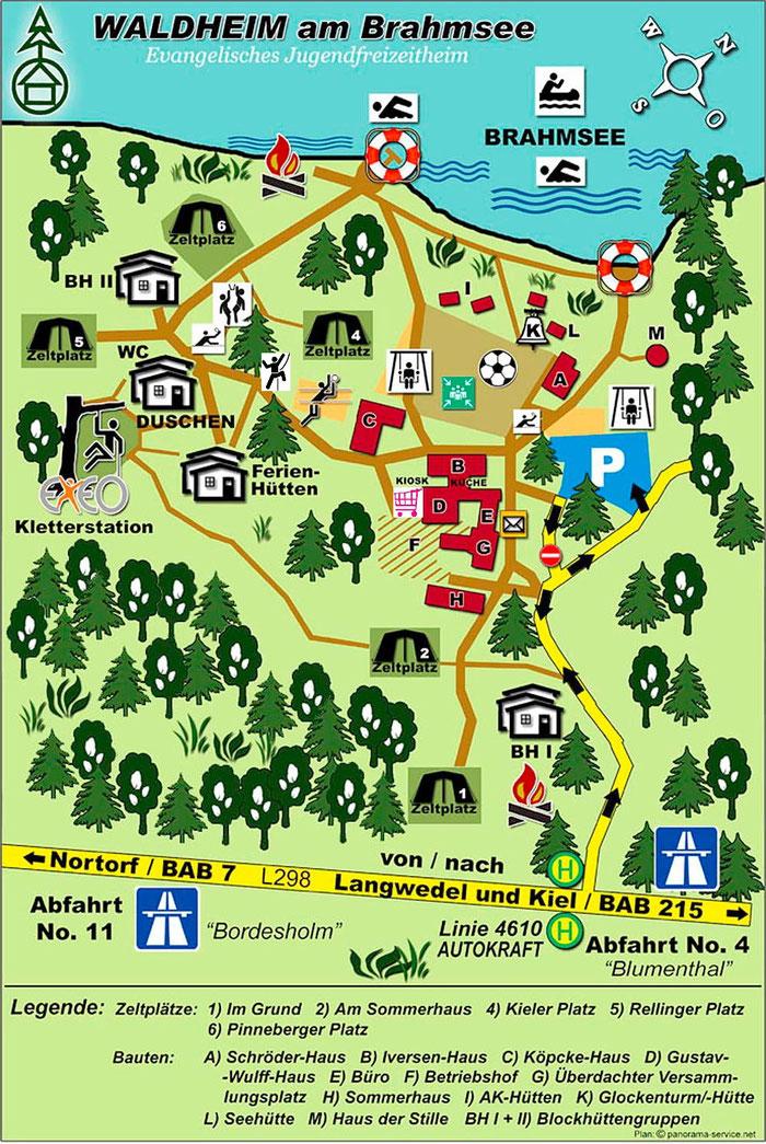 Geländeplan Waldheim am Brahmsee