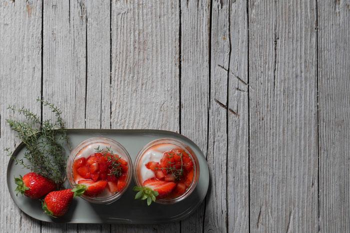 Erdbeer-Schichtdessert