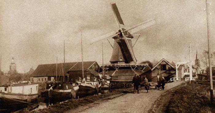 Molen de Weert rond 1920 - (Foto: Stichting Oud Meppel)