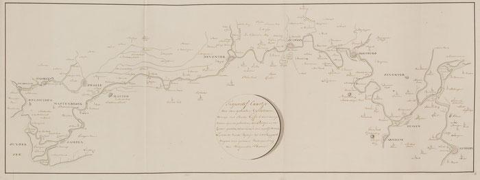 Old Map of The IJssel 1801 / C.R.T. Krayenhoff /Gelders Archief