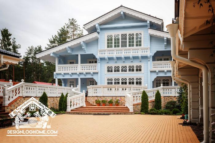 дом из клееного бруса, особняк,дом в стиле шале