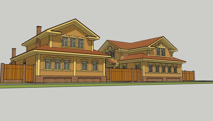 дом деревянный городской в суздале