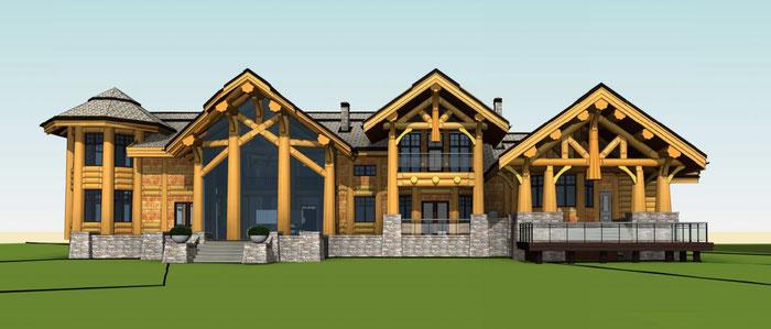 Проект дома из кедра по канадской технологии