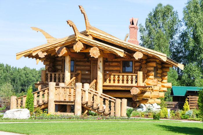 дом из красного канадского кедра