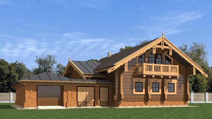 дом в русском стиле,дом из лафета,стиль модерн,Суздаль,деревянный дом,дом с резьбой