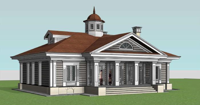 клееный брус,баня из клееного бруса, баня в стиле классицизм,дом в стиле классицизм,баня из лафета,